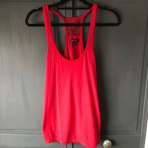 Red Lace Tank Top
